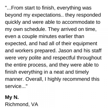 Tree Service review Richmond va